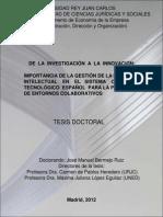 De La Investigacion a La Innovacion Bermejo Ruiz