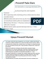 Upaya Preventif Pada Diare