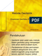 Metode Geolistrik Resistivitas
