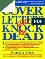 Bk Crr CoverLettersThatKnockThemDead
