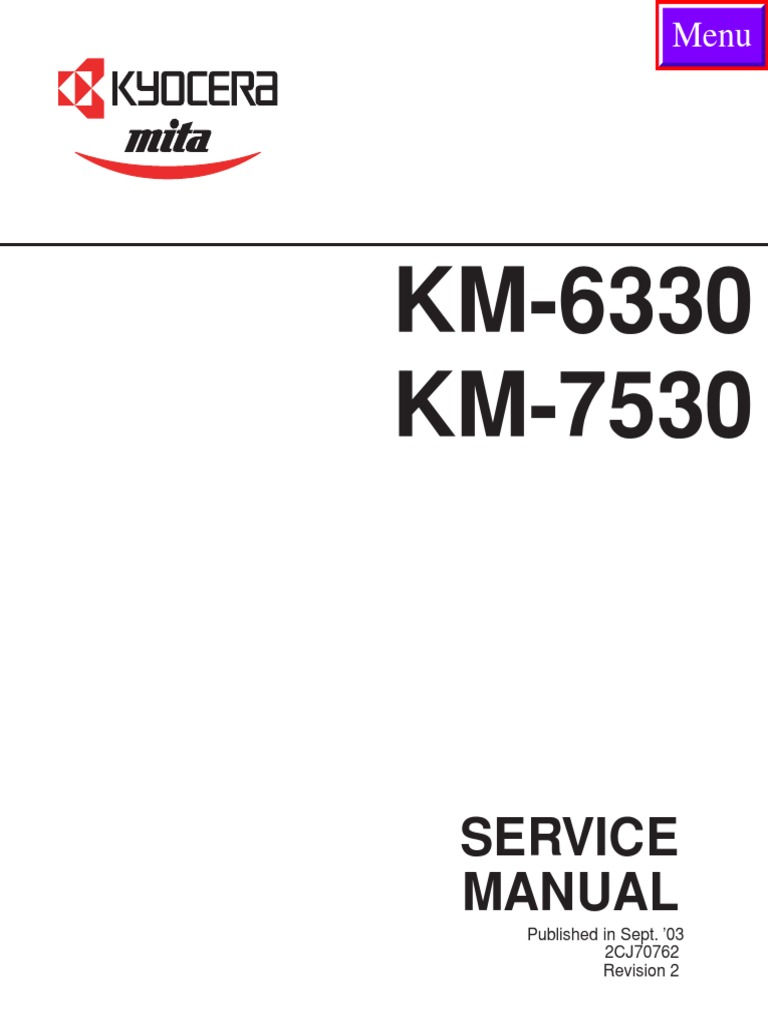 kyocera mita df 75 service repair manual parts list