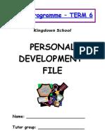 Personal Development Profle (Tutor Programme)