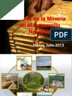 Aporte de la Minería en el Desarrollo Nacional