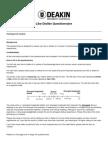 like dislike questionnaire updated sept 2013