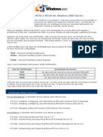 A Certificação MCSE e MCSA em Windows 2000 Server