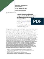 Estudio Comparativo de Biodisponibilidad