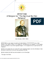 Spirit Ism a Religion for the Spiritual but Not Religious