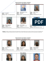 Crime Report 11-21-11 Through 11-27-11