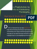 History Report (Pagbubukas Ng Maynila Sa Kalakalang Pandaigdig)- M.J.silverio(BS ECE I-4)