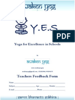 Y.E.S.-teacher's Feedback Form