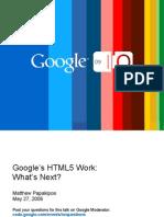 Google's HTML 5 Work