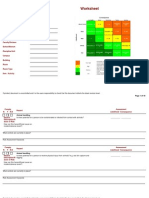 Risk Assessment Worksheet Template Petracarbon