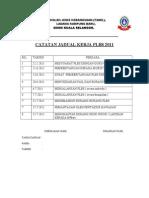 Catatan Jadual Kerja Plbs 2009