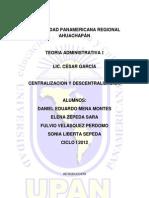 5 Centralizacion y Descentralizacion