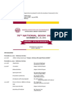 78th National Book Week Invitation Programme