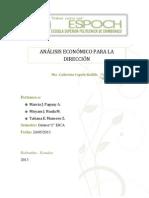 Análisis Económico para la Dirección