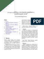 RELACIONES PÚBLICAS MOVIENTOS POPULARES Y TRANSFORMACIÓN SOCIAL peruzzo-cicilia-relacoes-publicas-1