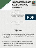 EVALUACIÓN DE FORMACIONES Y TÉCNICA DE TOMA DE MUESTRAS