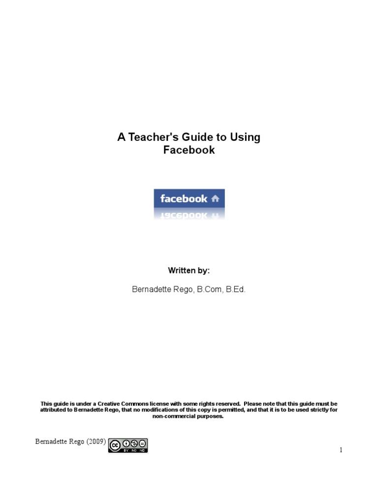 teacher s guide to using facebook read fullscreen facebook rh scribd com Teacher Facebook Post School Teacher Facebook