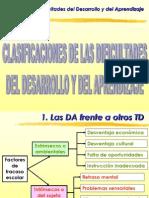 Clasificaciones de Las Dificultades de Desarrollo y Aprendizaje