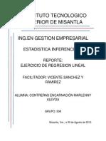 Reporte de Ejercicio de Regresion Lineal (Marlenny)