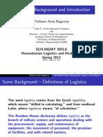 Nagurney Humanitarian Logistics Lecture 1