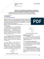 Development and validation of UV-Method for simultaneous estimation of Artesunate and Mefloquine hydrochloride in bulk and marketed formulation