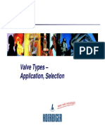 Valve Applications,Types of Valves