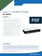 TD-8840T V4 Datasheet