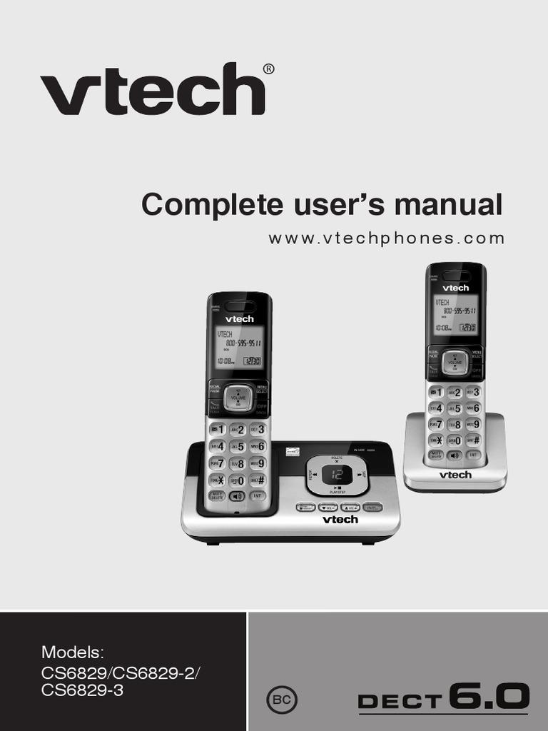 cs6829 user manual voicemail telephone numbering plan rh es scribd com VTech 6.0 Cordless Phone Manual vtech dect 6.0 answering machine user manual