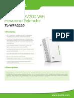 Tl-wpa2220(Eu v1 Datasheet