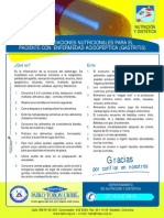 Recomendaciones Nutricionales Para El Paciente Con Enfermedad Acodopeptica (Gastritis)