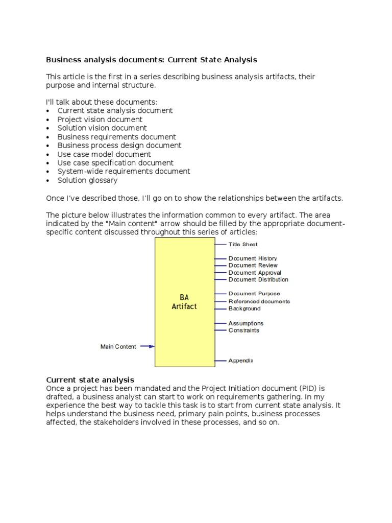 Business Analysis Documents Description Vgood Business Analysis - Business analyst documents