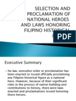Selection and ProclamSELECTION AND PROCLAMATION OF NATIONAL HEROEation of National Heroes