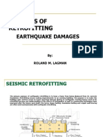 Retrofitting of earthquake damages