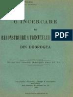 O Incercare de Reconstituire a Trecutului Romanilor Din Dobrogea