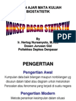 Konsep dasar Biostatistik