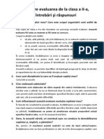 Brosura Evaluare Clasa II