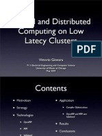 [slides] Parallel and Distributed Computing on Low Latency Clusters