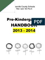 PreK Parent Handbook 2013-2014
