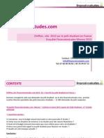 Enquête sur le prêt étudiant en France 2013