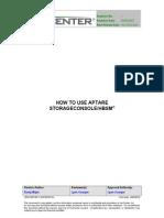 How to Use APTARE StorageConsole
