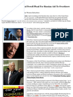 Insider News -1695 - President Carter, General Powell Plead for Russian Aid to Overthrow Obama