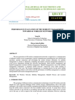 Performance Evaluation of the Mobility Management Towards 4g Wireless Netwo