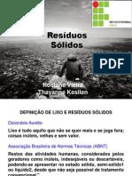 Apresentação PIBID residuos solidos