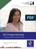 MSc Strategic Marketing Factsheet
