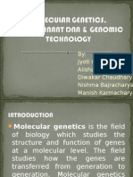 Molecular Genetics recombinant DNA and Genomic Technology