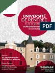 Bulletin d'inscription universités maintenant la gauche avec programme prévisionnel