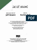 (Title of Show) Libretto