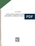 Livio Maitan Anticapitalismo e comunismo potenzialità e antinomie di una rifondazione  1992